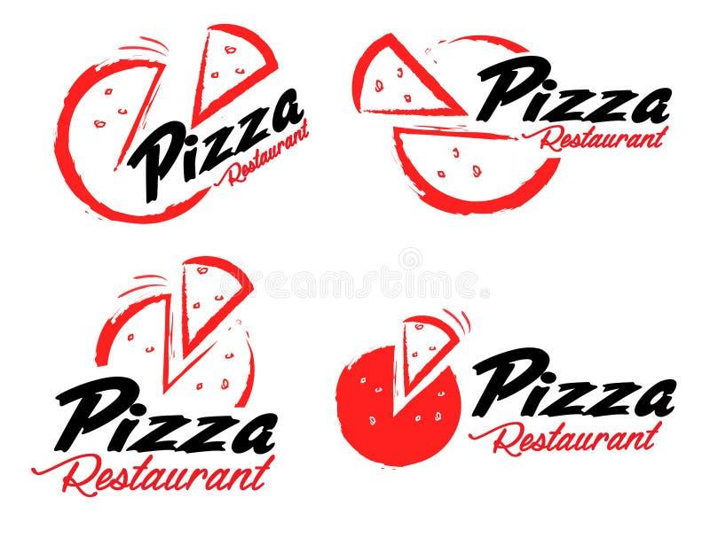 Λογότυπο πιτσών διανυσματική απεικόνιση