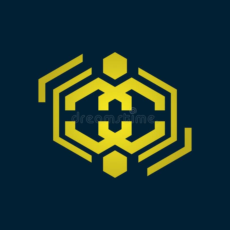 Λογότυπο πολυτέλειας Λογότυπο διακοσμήσεων Εσωτερικό εικονίδιο Λογότυπο μπουτίκ Λογότυπο μόδας Λογότυπο κοσμήματος Λογότυπο ξενοδ ελεύθερη απεικόνιση δικαιώματος