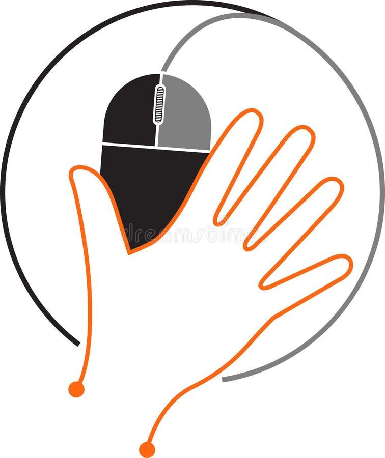 Λογότυπο ποντικιών χεριών ελεύθερη απεικόνιση δικαιώματος