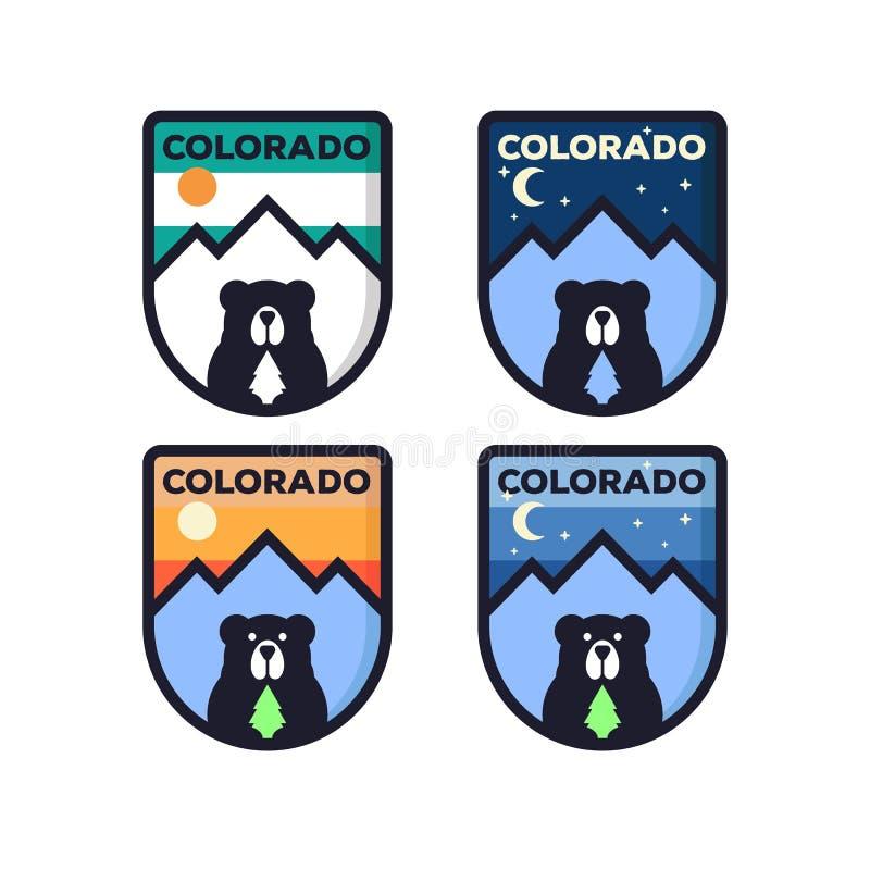 Απεικόνιση βουνών, υπαίθρια περιπέτεια Διανυσματικός γραφικός για την μπλούζα και άλλες χρήσεις λογότυπο που τίθεται με το σύμβολ ελεύθερη απεικόνιση δικαιώματος