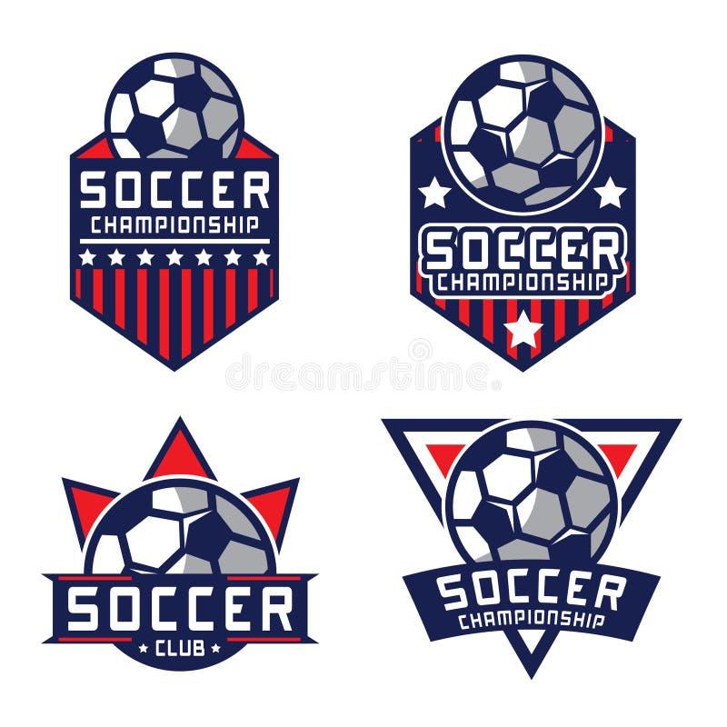 Λογότυπο ποδοσφαίρου, λογότυπο της Αμερικής διανυσματική απεικόνιση