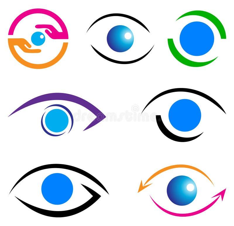 Λογότυπο προσοχής ματιών διανυσματική απεικόνιση
