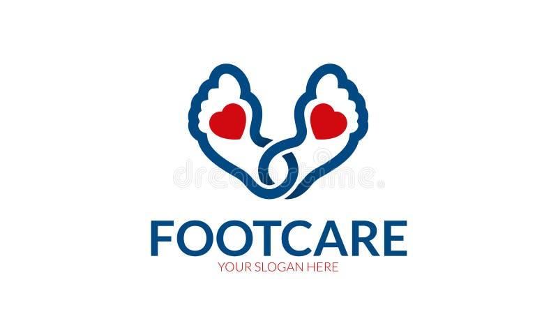 Λογότυπο προσοχής ποδιών διανυσματική απεικόνιση