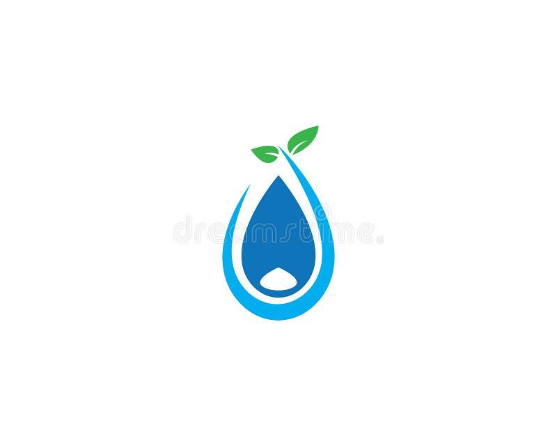 Λογότυπο πτώσης νερού ελεύθερη απεικόνιση δικαιώματος