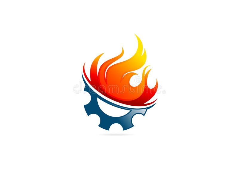 Λογότυπο πυρκαγιάς φλογών εργαλείων ελεύθερη απεικόνιση δικαιώματος