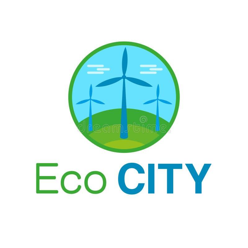 Λογότυπο πόλεων Eco απεικόνιση αποθεμάτων