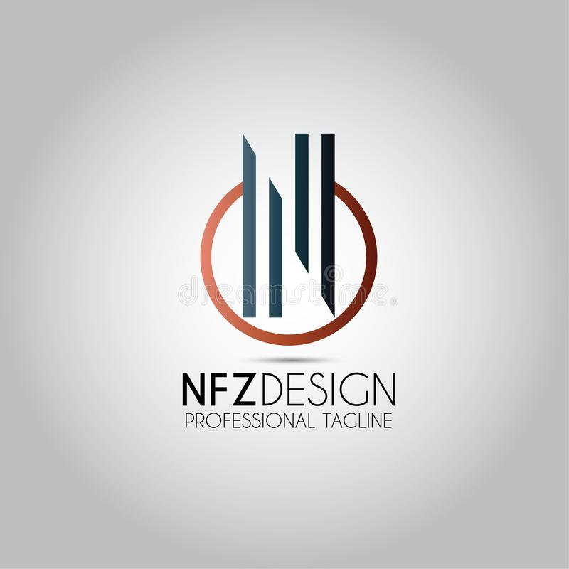 Λογότυπο πύργων επιστολών Ν απεικόνιση αποθεμάτων