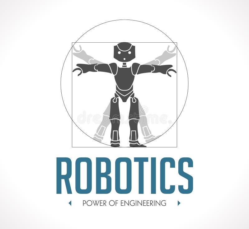 Λογότυπο - ρομποτική διανυσματική απεικόνιση