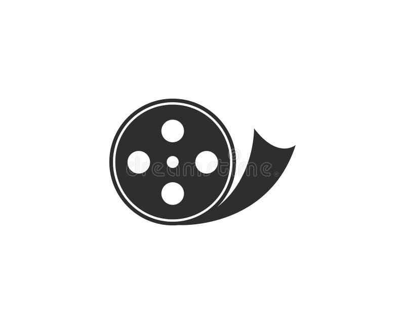 Λογότυπο ρόλων ταινιών απεικόνιση αποθεμάτων