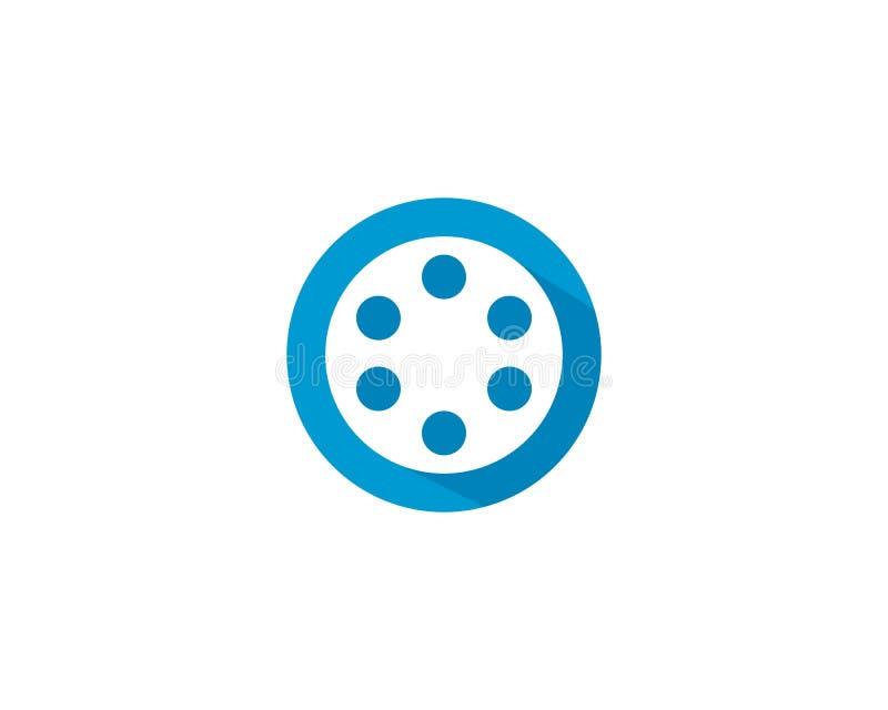 Λογότυπο ρόλων ταινιών διανυσματική απεικόνιση