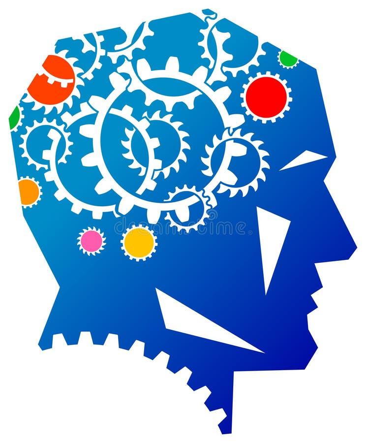 Λογότυπο σκέψεων διανυσματική απεικόνιση