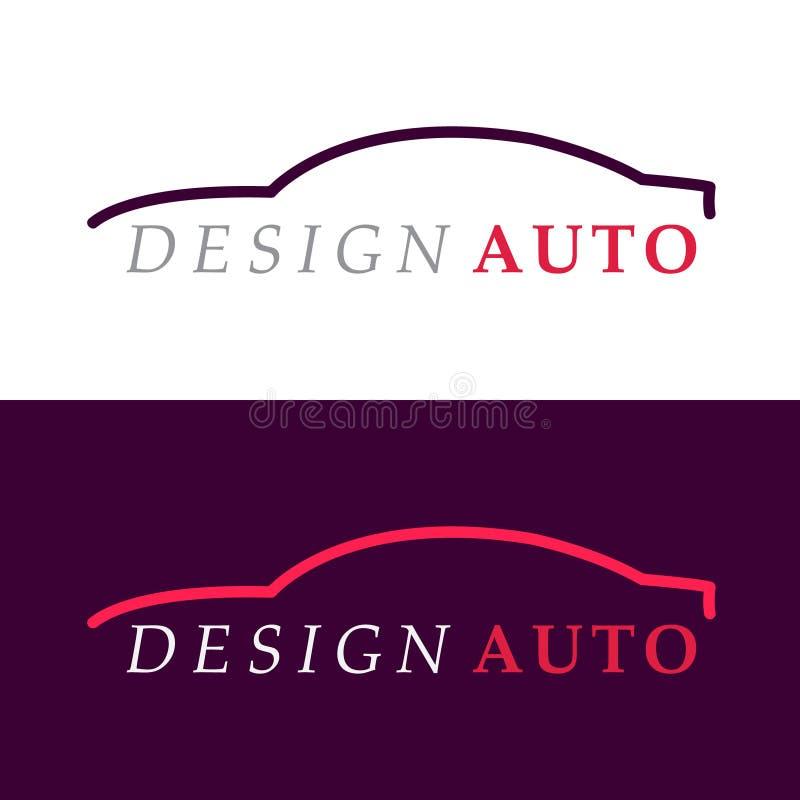Λογότυπο σκιαγραφιών αυτοκινήτων απεικόνιση αποθεμάτων