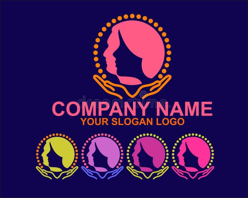 Λογότυπο σκιαγραφιών γυναικών και ανδρών στοκ φωτογραφία