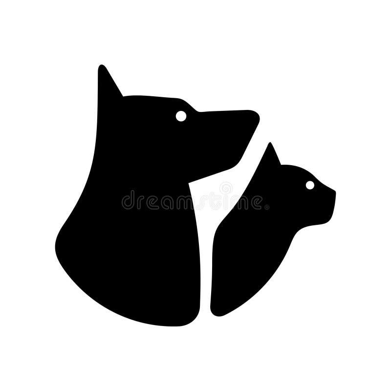 Λογότυπο σκυλιών και γατών απεικόνιση αποθεμάτων