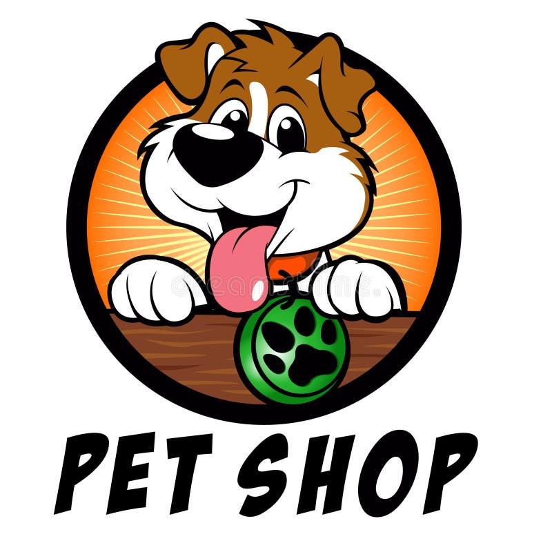 Λογότυπο σκυλιών καταστημάτων της Pet διανυσματική απεικόνιση