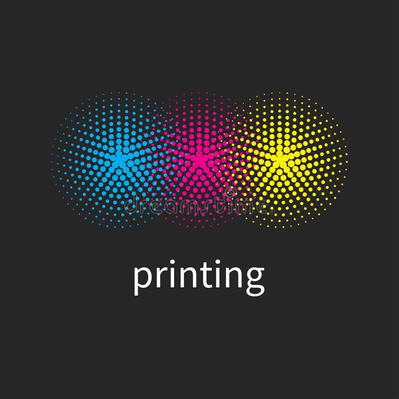 Λογότυπο σπιτιών εκτύπωσης απεικόνιση αποθεμάτων