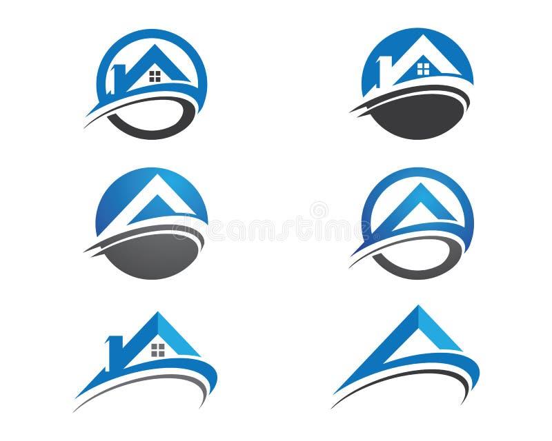 Λογότυπο σπιτιών και οικοδόμησης διανυσματική απεικόνιση