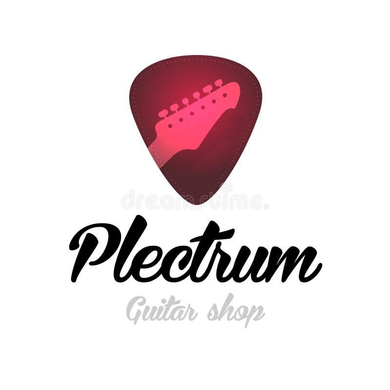 Λογότυπο σπιτιών κιθάρων Κόκκινο πλήκτρο στοκ φωτογραφία με δικαίωμα ελεύθερης χρήσης
