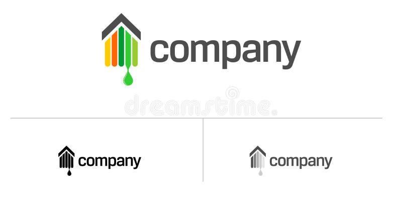 λογότυπο σπιτιών κτημάτων π διανυσματική απεικόνιση