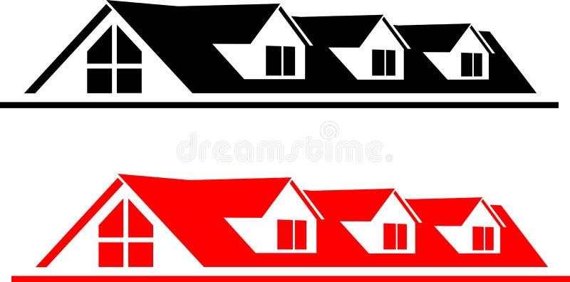 Λογότυπο σπιτιών διανυσματική απεικόνιση