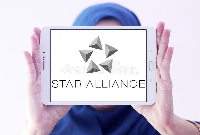 Λογότυπο συμμαχίας αστεριών στοκ εικόνα