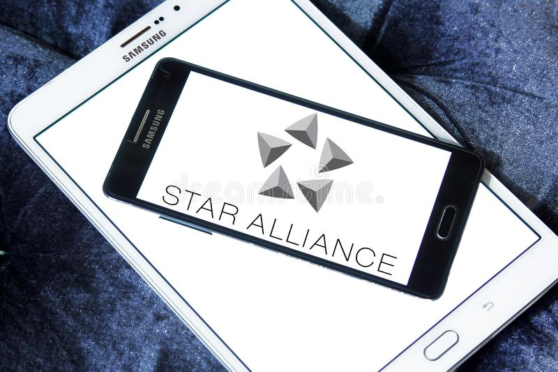 Λογότυπο συμμαχίας αστεριών στοκ εικόνες