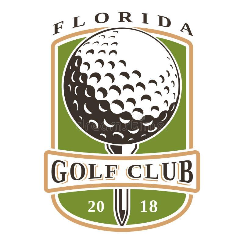 Λογότυπο σφαιρών γκολφ διανυσματική απεικόνιση