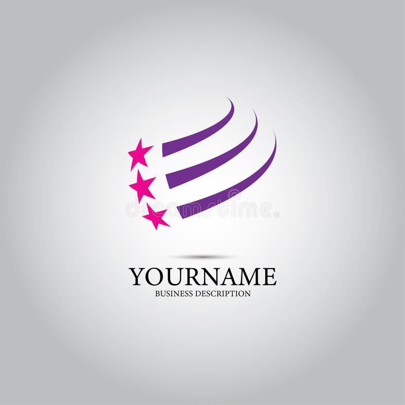 Λογότυπο σχεδίου γραμμών αστεριών ελεύθερη απεικόνιση δικαιώματος