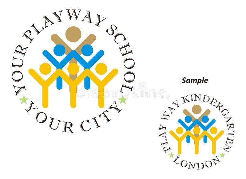 Λογότυπο - σχολείο τρόπων παιχνιδιού διανυσματική απεικόνιση