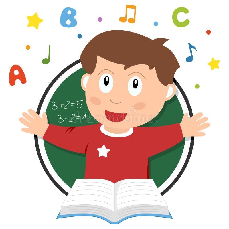 Λογότυπο σχολικών κατσικιών διανυσματική απεικόνιση