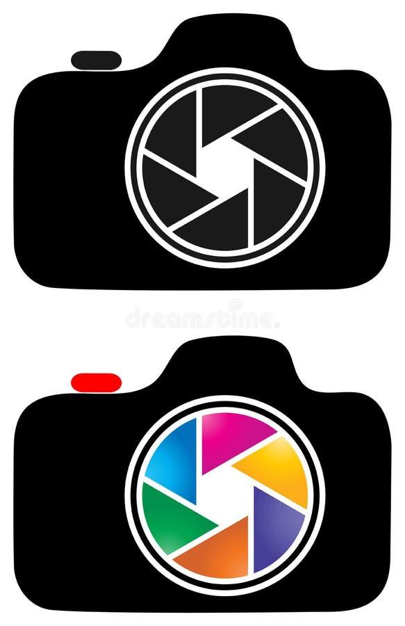 Λογότυπο τέχνης συνδετήρων καμερών φωτογραφίας απεικόνιση αποθεμάτων