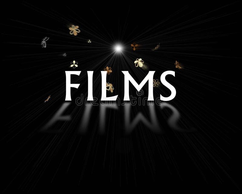 λογότυπο ταινιών διανυσματική απεικόνιση