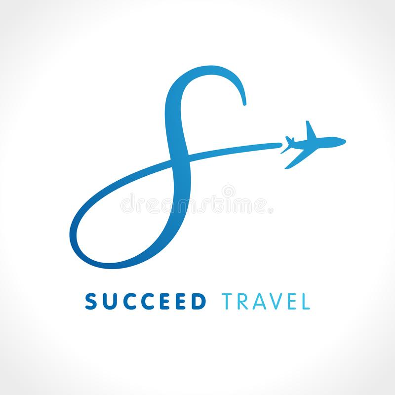 Λογότυπο ταξιδιωτικής εταιρείας επιτυχίας επιστολών του S ελεύθερη απεικόνιση δικαιώματος