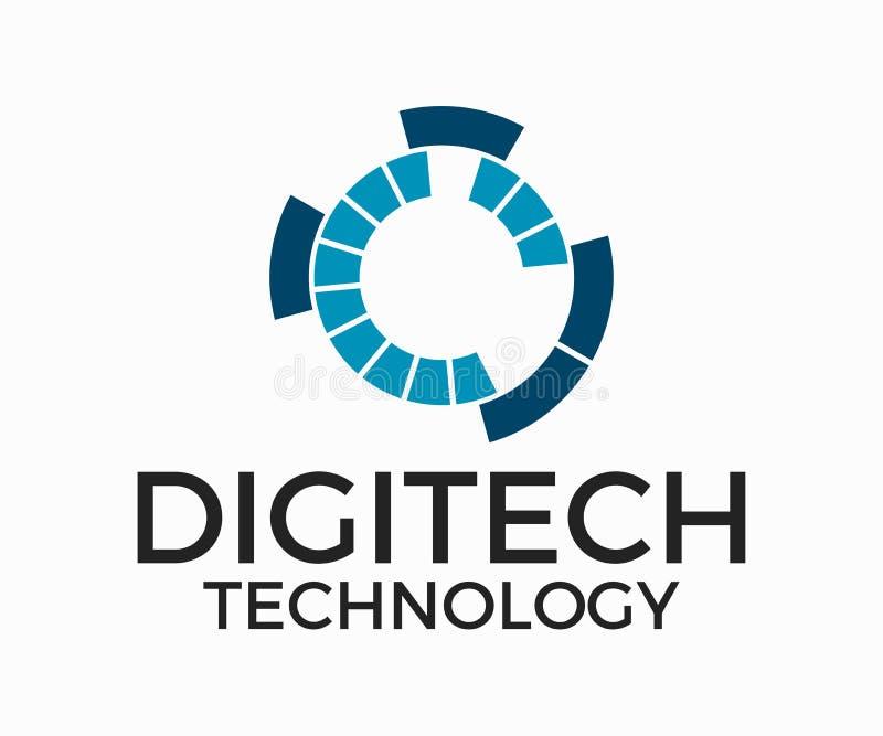 Λογότυπο τεχνολογίας, διανυσματικό σχέδιο λογότυπων τεχνολογίας σταθερό, πλήρες διανυσματικό πρότυπο διανυσματική απεικόνιση