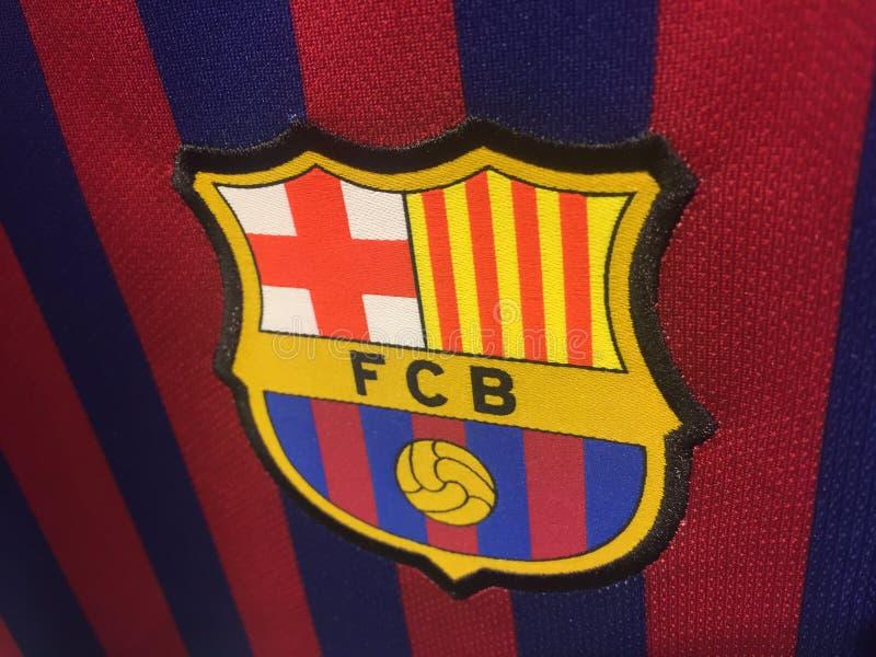 Λογότυπο της Βαρκελώνης λεσχών Futbol στοκ φωτογραφία με δικαίωμα ελεύθερης χρήσης