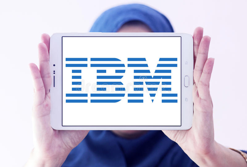 Λογότυπο της ΙΒΜ στοκ φωτογραφίες