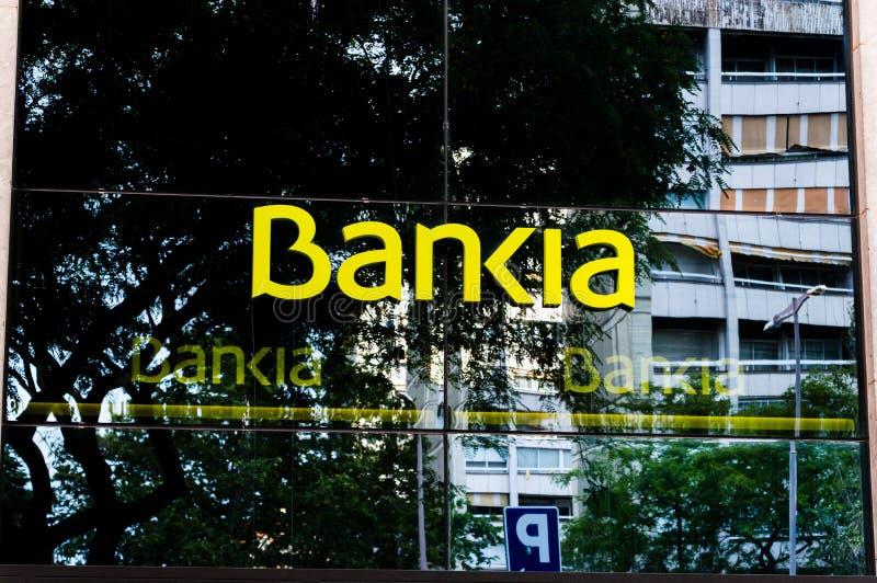 Λογότυπο της ισπανικής τράπεζας Bankia στοκ εικόνες