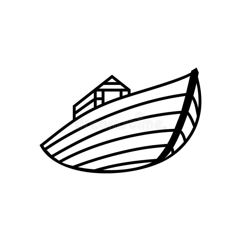Λογότυπο της κιβωτού του Νώε Σκάφος για να διασώσει τα ζώα και τους ανθρώπους από την πλημμύρα Βιβλική απεικόνιση απεικόνιση αποθεμάτων