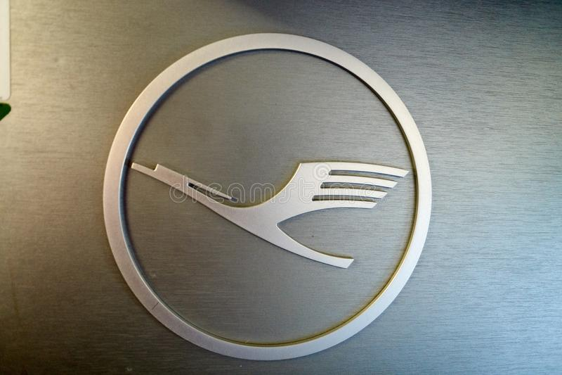 Λογότυπο της Lufthansa στοκ φωτογραφίες