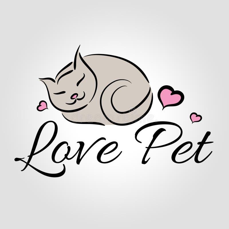 Λογότυπο της Pet αγάπης ελεύθερη απεικόνιση δικαιώματος