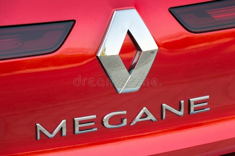 Λογότυπο της Renault στη Renault Megane στοκ εικόνες