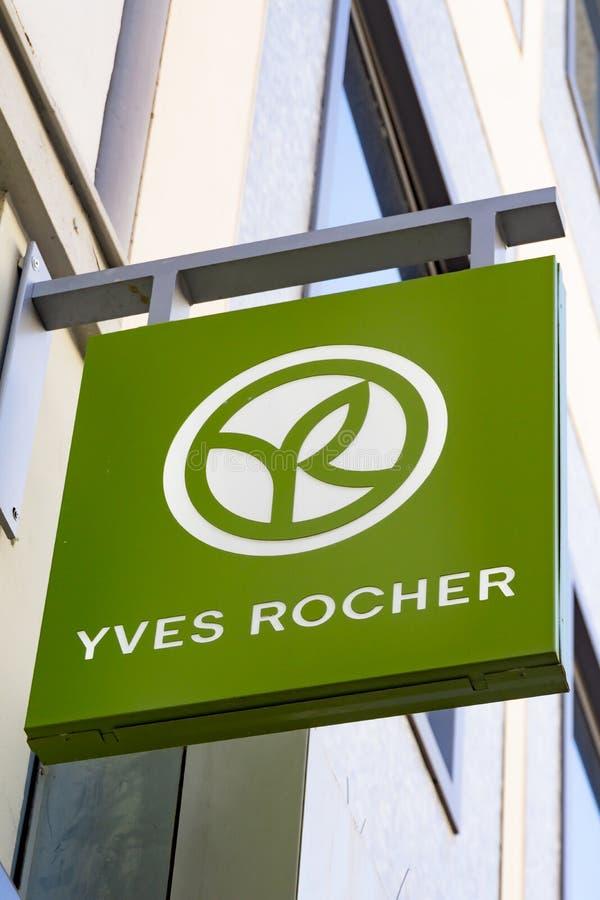Λογότυπο της YVES ROCHER στοκ εικόνα