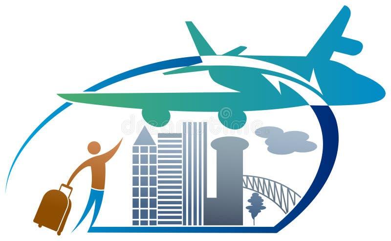 Λογότυπο τουρισμού απεικόνιση αποθεμάτων