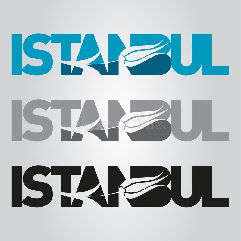 Λογότυπο τουλιπών της Ιστανμπούλ διανυσματική απεικόνιση