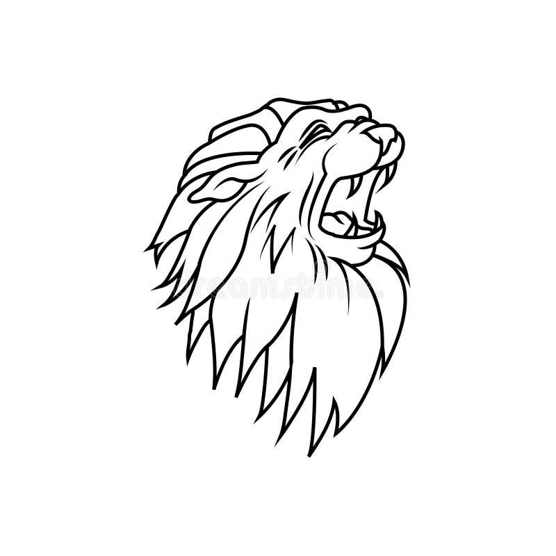 Λογότυπο του κεφαλιού του λιονταριού απεικόνιση αποθεμάτων