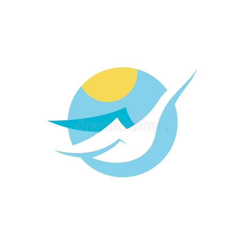 Λογότυπο του Κύκνου απεικόνιση αποθεμάτων