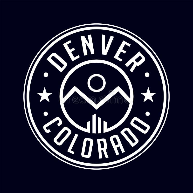 Λογότυπο του Ντένβερ Κολοράντο Διάνυσμα και απεικόνιση διανυσματική απεικόνιση