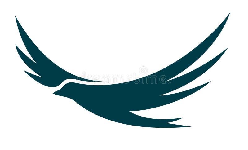 Λογότυπο του πετώντας πουλιού ελεύθερη απεικόνιση δικαιώματος