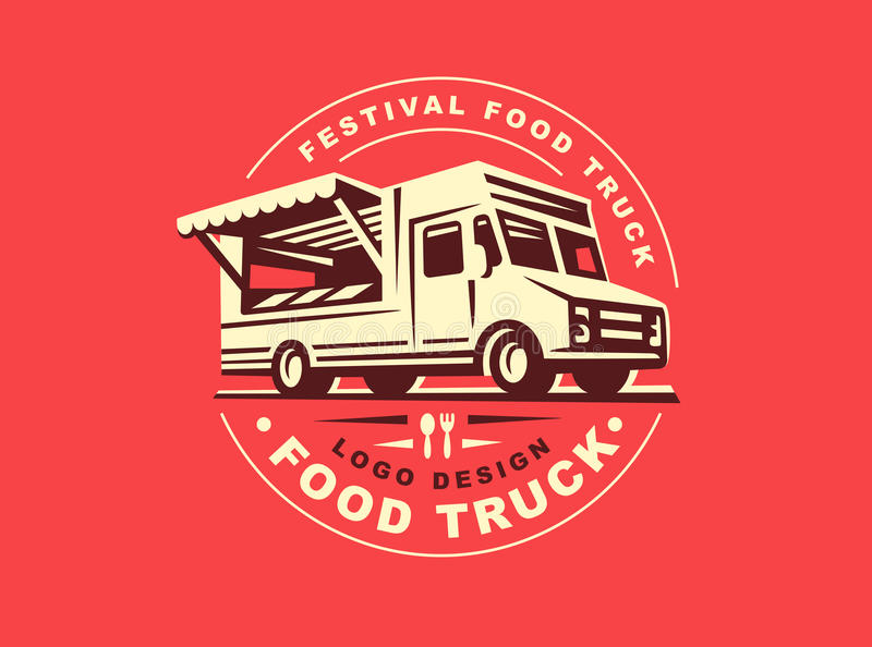 Λογότυπο του φορτηγού τροφίμων ελεύθερη απεικόνιση δικαιώματος
