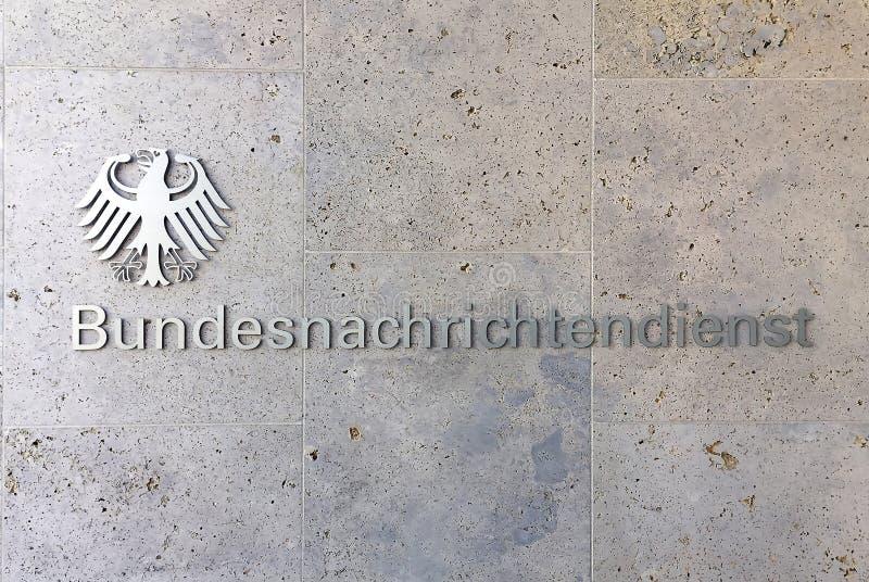 Λογότυπο του BND στο Βερολίνο - τη Γερμανία στοκ φωτογραφία με δικαίωμα ελεύθερης χρήσης